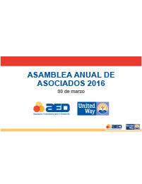 Informe Asamblea Anual de Asociados 2016