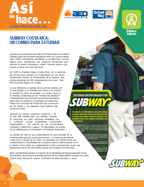 Así se hace. Subway. Un combo para estudiar.